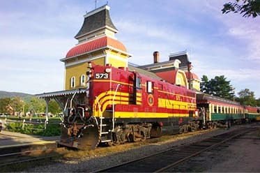 north conway scenic railroad near our Jackson NH Hotel