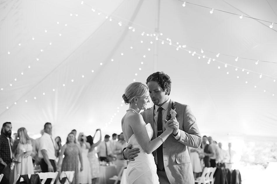 bride dancing at NH tent wedding