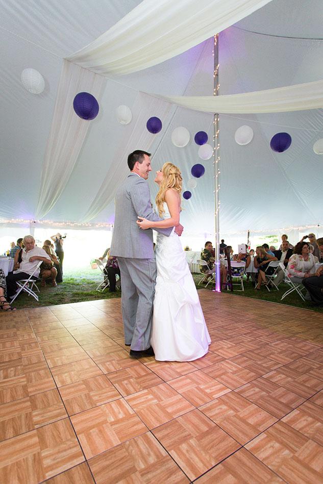 New Hampshire tent wedding