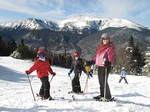 Skiing the white mountains from our Jackson NH Inn