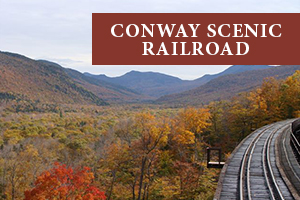 Conway Scenic Railroad in New Hampshire in the Fall