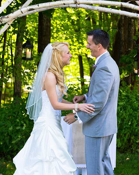 Outdoor wedding venue Jackson NH includes tent weddings NH