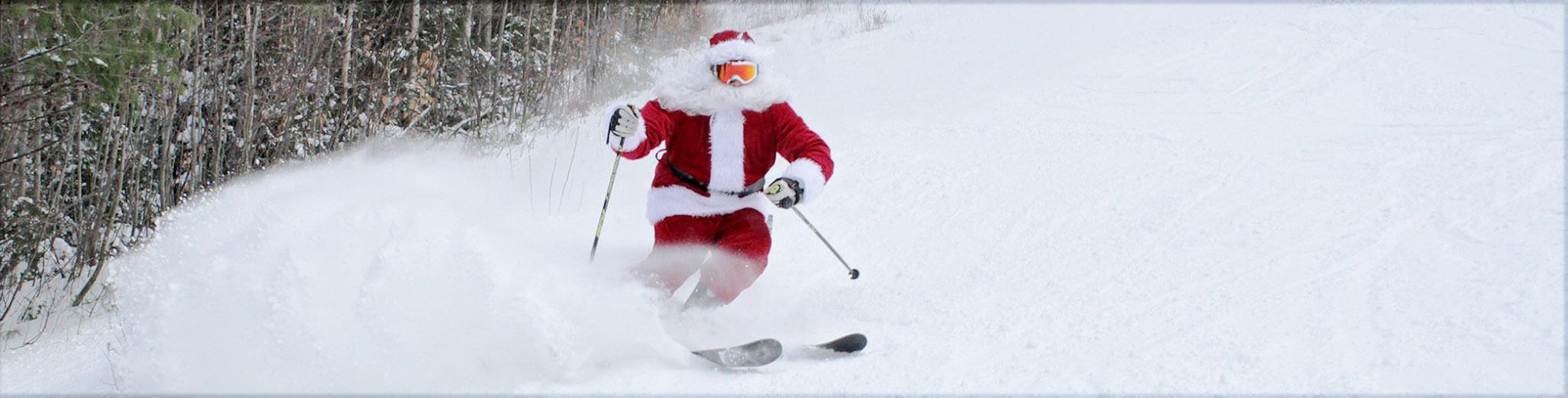 White Mountain Ski Hotel image of Santa Skiing