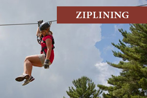 Ziplining White Mountains