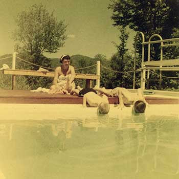 Christmas Farm Inn Pool at our Jackson NH Inn in 1954