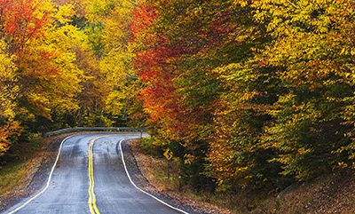 Ideal Fall Foliage Viewing in Jackson, New Hampshire