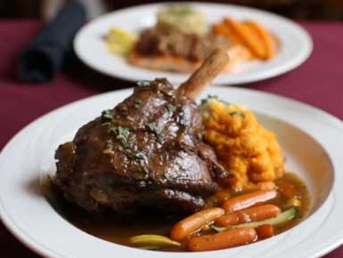 Lamb Shank at our Jackson NH Restaurant