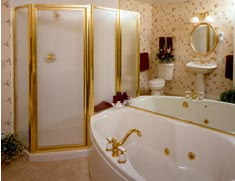 Romantic New England Inn offers romance package that includes 2-person Jacuzzi bath.