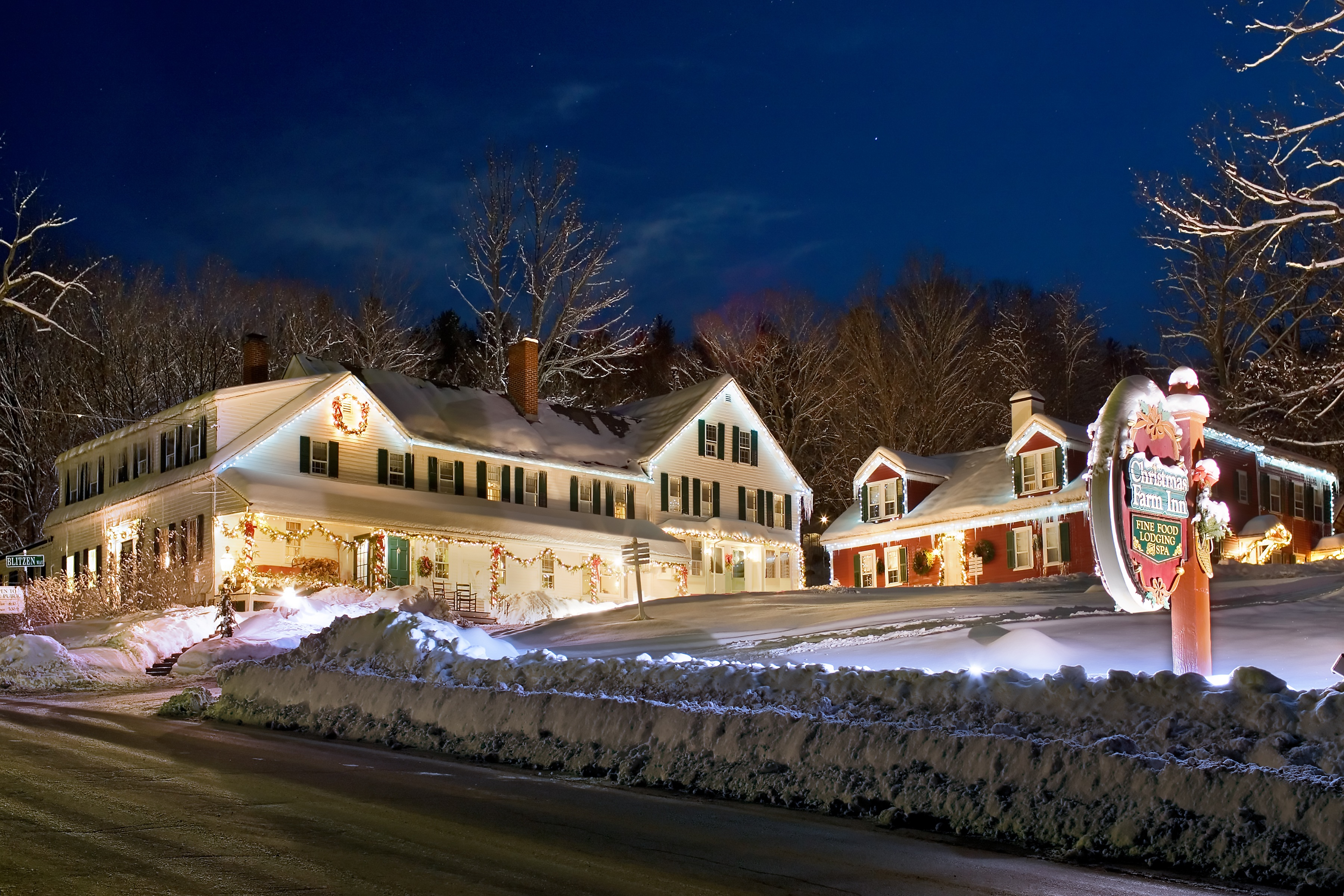 christmas farm inn and spa a winters night