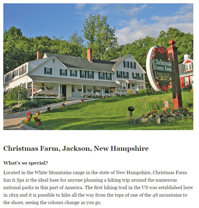 Where to stay in New England - Jackson NH Hotels