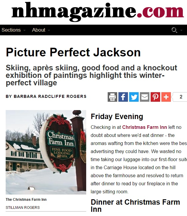 A Christmas Getaway to Jackson New Hampshire Bed & Breakfast