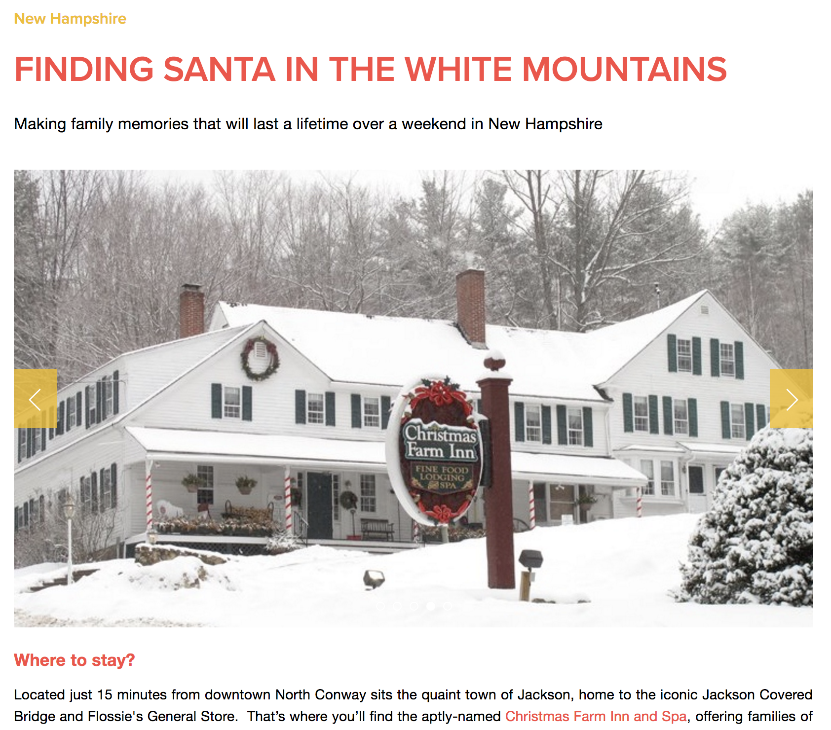 Finding Santa in the White Mountains