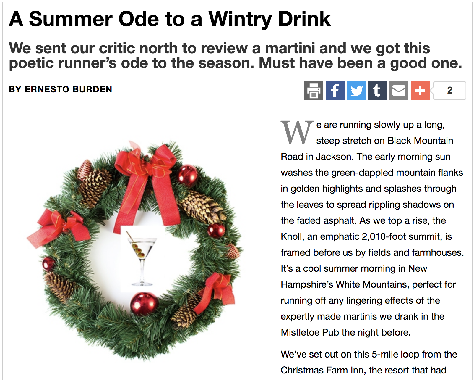 New Hampshire Magazine: A Summer Ode to a Wintry Drink