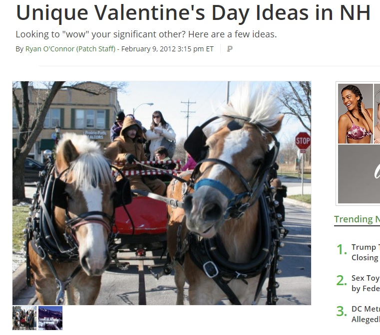 Unique Valentines Day Idea in NH include our Jackson NH Hotel