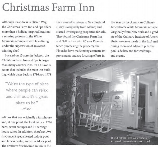 Celebrate NH Feature about our Jackson NH Bed & Breakfast