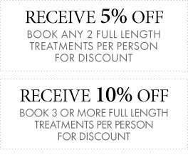 Discounts from our Spa in the White Mountains