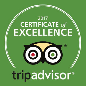 Trip Advisor Certificate of Excellence Winner 2017