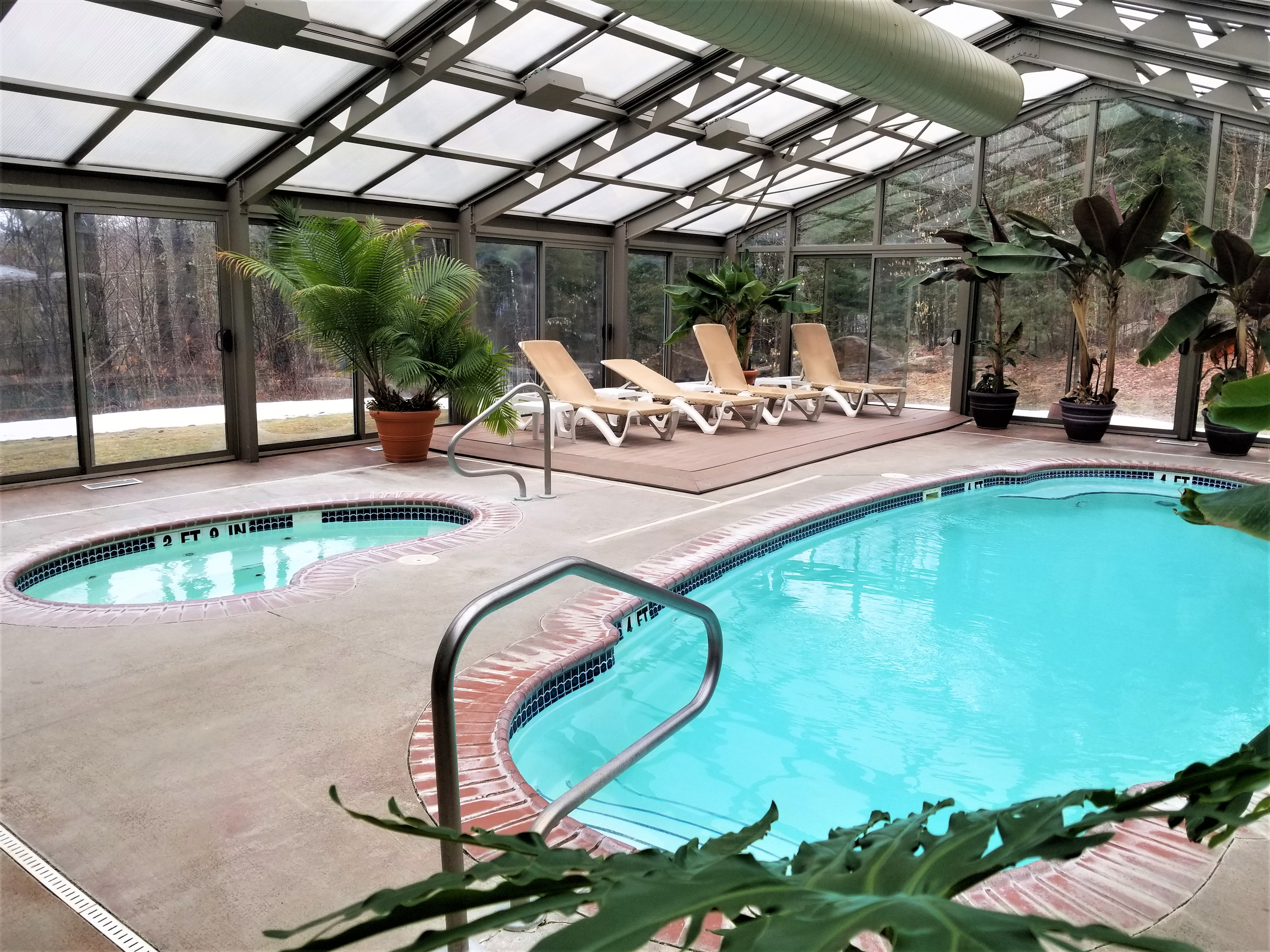 Indoor Pool Image at Jackson NH Spa Facility in White Mountains
