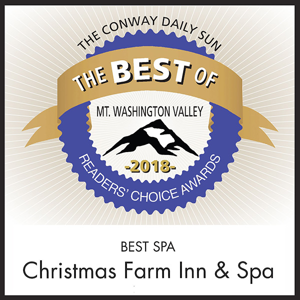 Jackson NH Spa won Readers Choice Best Spa in Mt Washington Valley in White Mountains